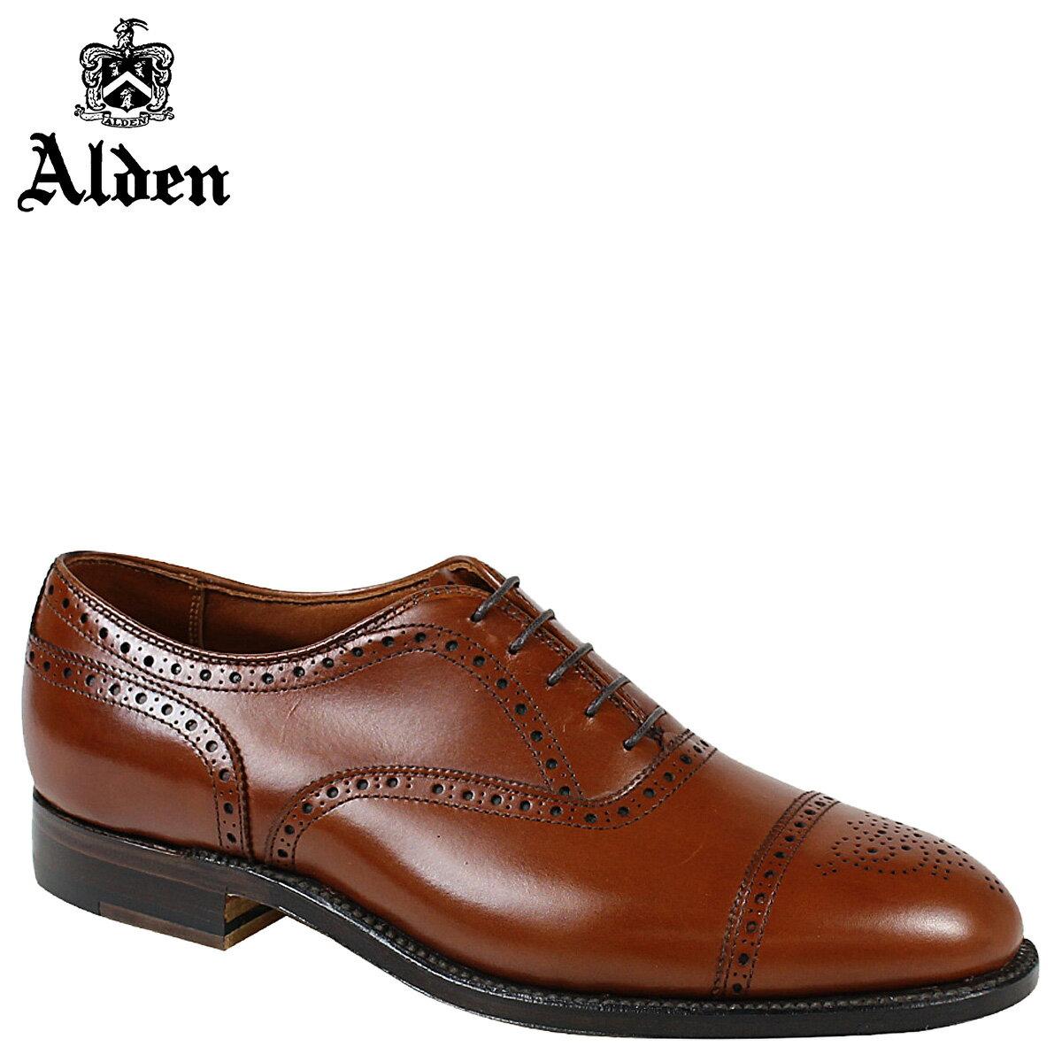 ALDEN オールデン オックスフォード シューズ メンズ MEDALLION TIP BAL OXFORD Dワイズ 911