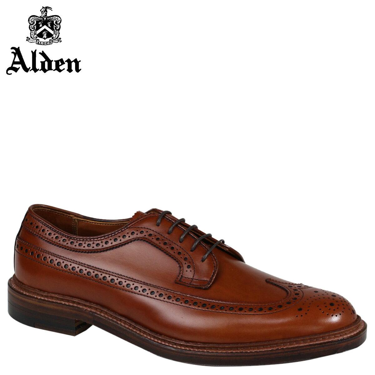 ALDEN オールデン ウイングチップ シューズ メンズ LONG WING BLUCHER Dワイズ 979