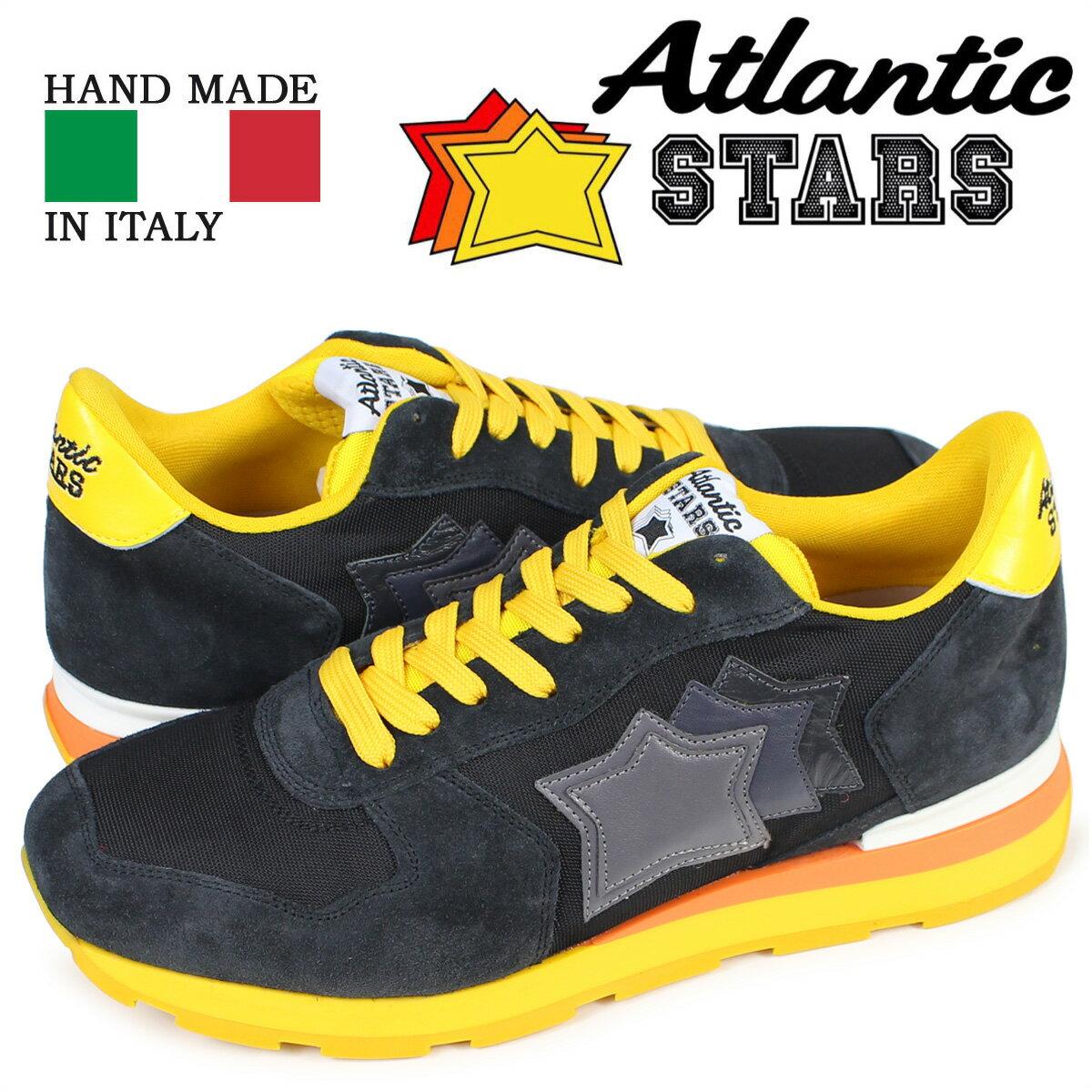 【最大1000円OFFクーポン ポイント最大30倍】 アトランティックスターズ メンズ スニーカー Atlantic STARS アンタレス ANTARES SB-46B 靴 ブラック