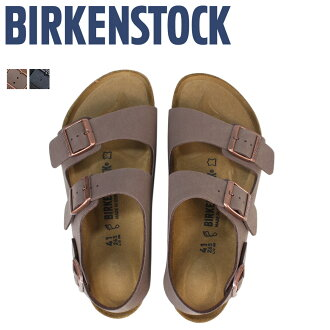 ビルケンシュトック BIRKENSTOCK Milan sandals men gap Dis MILANO building Ken synthetic leather thin normal width Mocha gray