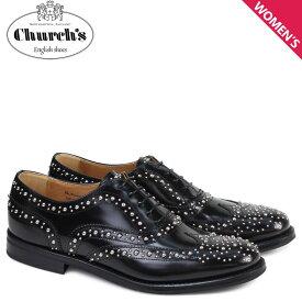 チャーチ Churchs 靴 レディース バーウッド シューズ ウイングチップ メット Burwood Met Polish Binder Calf 8746 DE0002 スタッズ ブラック