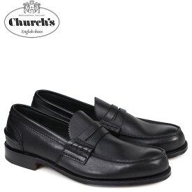 【最大2000円OFFクーポン】 チャーチ Churchs 靴 ローファー メンズ PEMBREY LOAFERS レザー ブラック EDB003