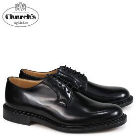 チャーチ Churchs 靴 シャノン プレーントゥ シューズ メンズ SHANNON POLISHED BINDER EEB001 ブラック [2/26 追加入荷]
