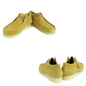 クラークスワラビーブーツメンズClarksWALLABEE26128360靴ベージュ[11/4新入荷]