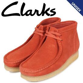 【最大2000円OFFクーポン】 クラークス clarks ワラビー ブーツ メンズ レディース WALLABEE スエード オレンジ 26144253