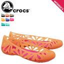 クロックス crocs レディース サンダル パンプス アドリナ ADRINA 3 FLAT 14936 海外正規品 [S50]