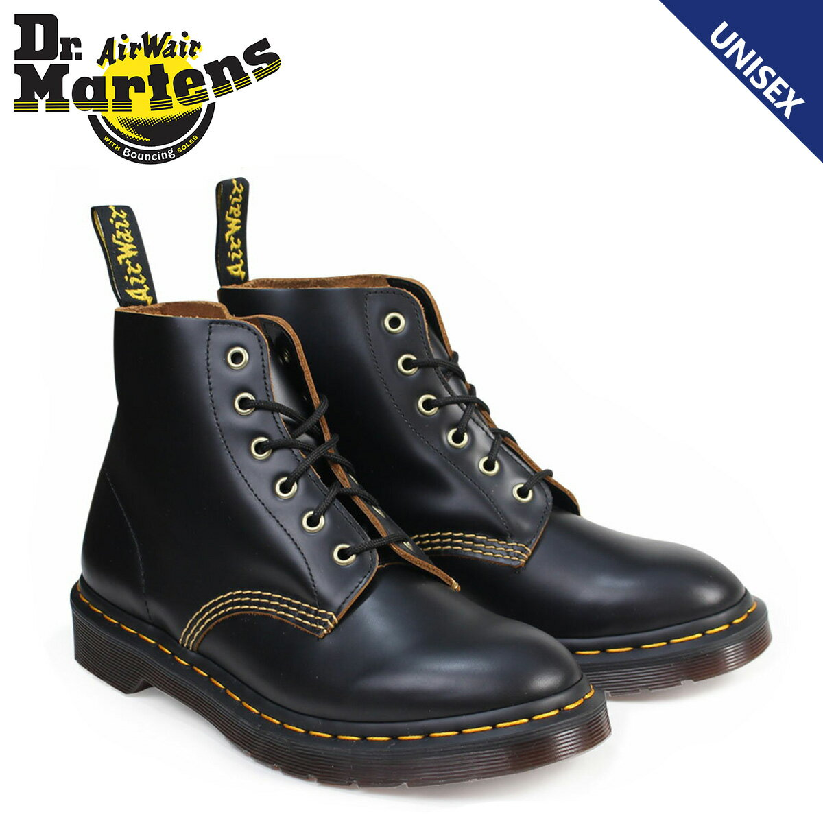 ドクターマーチン 6ホール メンズ レディース Dr.Martens ブーツ ARCHIVE 101 6EYE BOOT R22701001 ブラック