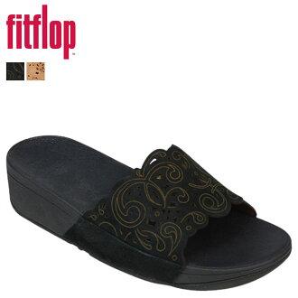 Fit flops FitFlop women's flora Slide Sandals FLORA SLIDE nubuck 500 2 color [5 / 13 new stock] [regular] ★ ★