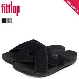 【最大2000円OFFクーポン】 FitFlop フィットフロップ サンダル コンフォートサンダル アートニット レディース ARTKNIT CROSS SLIDE ブラック 黒 Q85