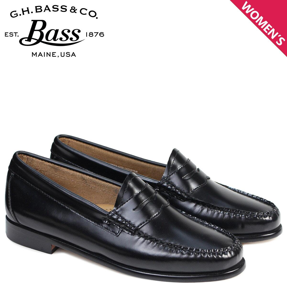 G.H. BASS ローファー ジーエイチバス レディース ペニー WHITNEY WEEJUNS 71-10334 靴 ブラック [3/1 追加入荷]