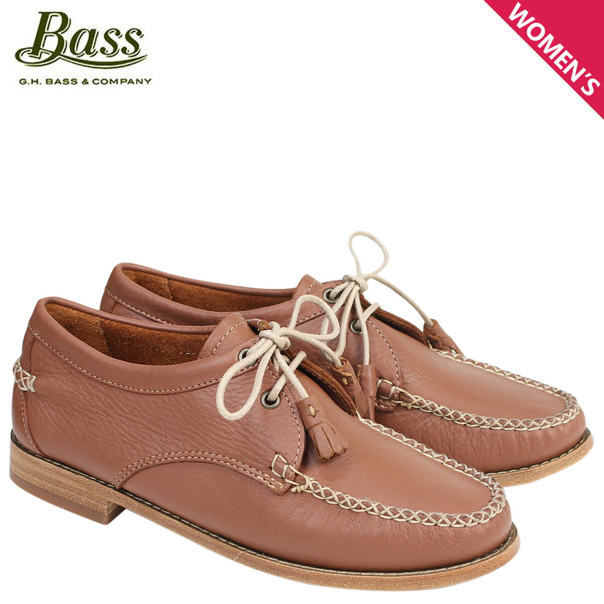 G.H. BASS ローファー ジーエイチバス レディース タッセル WINNIE TIE WEEJUNS 71-22872 靴 ブラウン