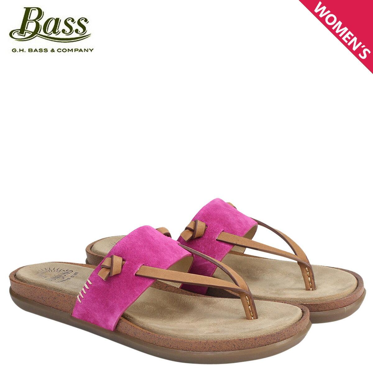 G.H. BASS サンダル レディース ジーエイチバス トングサンダル SHANNON THONG SUNJUNS 71-23018 靴 ピンク