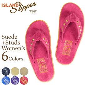アイランドスリッパ ISLAND SLIPPER サンダル トングサンダル レディース スエード スタッズ SUEDE STUDS PT203 STD18
