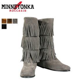 ミネトンカ MINNETONKA カーフ ハイ 3レイヤー ブーツ CALF HI 3-LAYER FRINGE BOOTS レディース