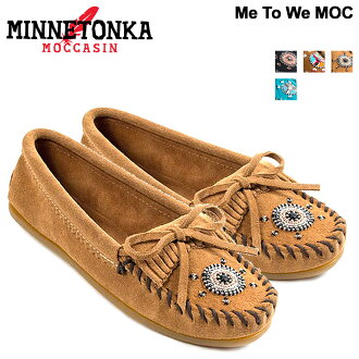 Minnetonka moccasins Womens MINNETONKA MOC MOC Me To We collaborated Brown [book product 12 / 6 days in stock new stock plan]