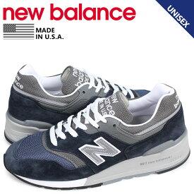 ニューバランス new balance 997 スニーカー メンズ レディース Dワイズ MADE IN USA ネイビー M997NV