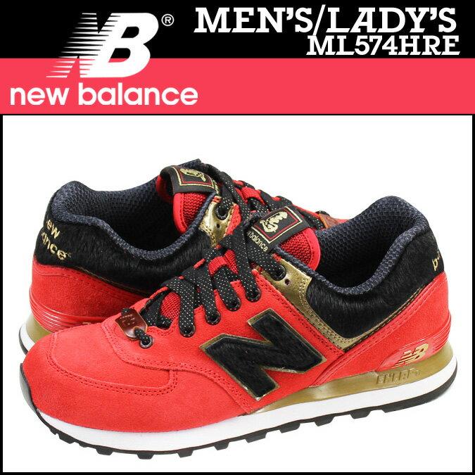 ニューバランス 574 レディース メンズ new balance スニーカー ML574HRE Dワイズ 午年 靴 レッド 【CLEARANCE】【返品不可】