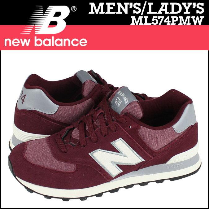 ニューバランス 574 メンズ レディース new balance スニーカー ML574PMW Dワイズ 靴 レッド 【CLEARANCE】【返品不可】