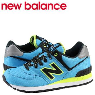 新新平衡 WL574WBB 女式运动鞋 B 明智的蓝色网格皮革 [定期]