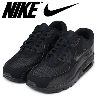 Nike NIKE Air Max men sneakers AIR MAX 90 ESSENTIAL 537,384-090 shoes black [load planned Shinnyu load in reservation product 1/24 containing]