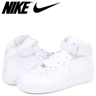 Nike NIKE air force 1 MID 07 sneakers men AIR FORCE 1 315,123-111 white [load planned Shinnyu load in reservation product 3/3 containing]