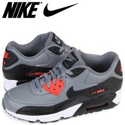 耐吉NIKE空氣最大90女子的運動鞋AIR MAX 90 LEATHER GS 833412-010灰色[預訂商品2/14左右打算進貨新入貨物]
