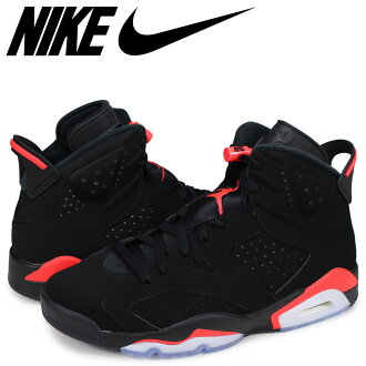 NIKE AIR JORDAN 6 RETRO Nike Air Jordan 6 nostalgic sneakers men black 384,664-060 [load planned Shinnyu load in reservation product 2/22 containing]