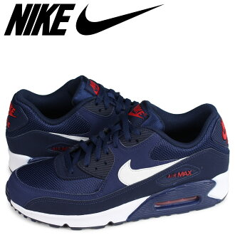 NIKE AIR MAX 90 ESSENTIAL Kie Ney AMAX 90 essential sneakers men navy AJ1285-403 [load planned Shinnyu load in reservation product 1/30 containing]