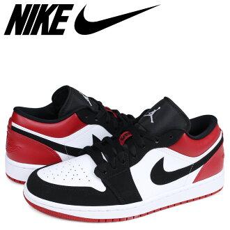 NIKE AIR JORDAN 1 LOW BLACK TOE Nike Air Jordan 1 nostalgic sneakers men つま black white white 553,558-116 [the 7/12 additional arrival]