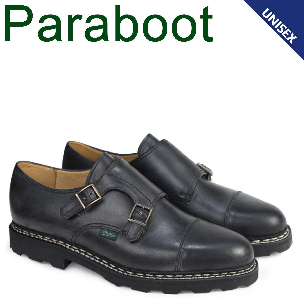 パラブーツ ウィリアム PARABOOT WILLIAM シューズ ダブルモンクシューズ 981412 メンズ レディース ブラック