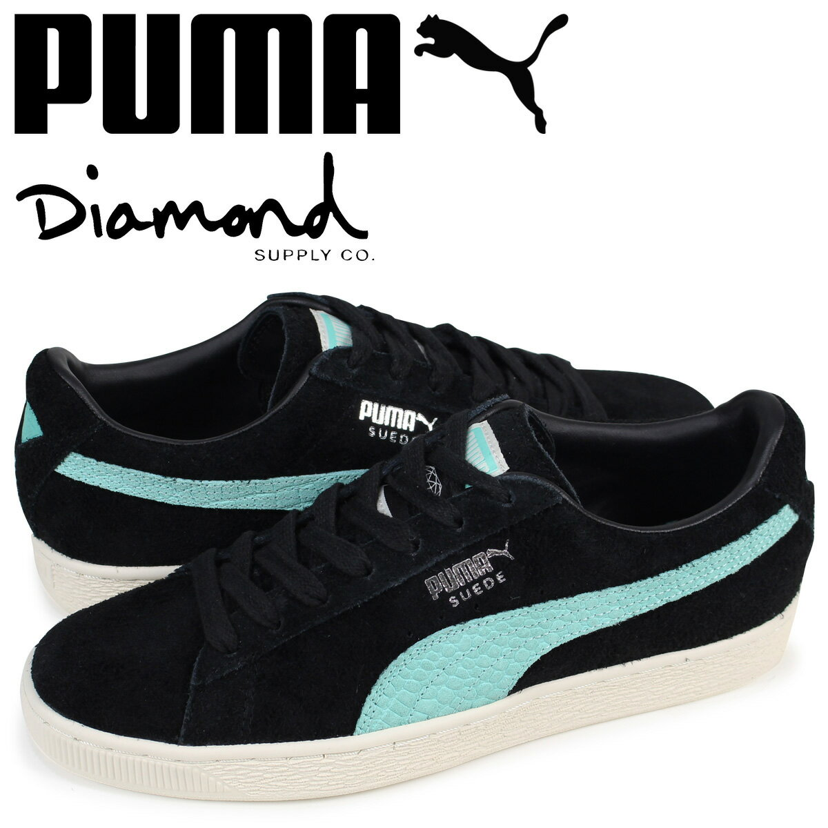プーマ PUMA スエード スニーカー メンズ ダイヤモンドサプライ SUEDE DIAMOND コラボ 365650-01 ブラック