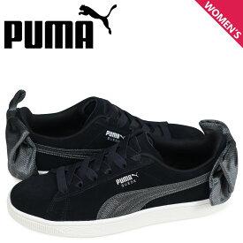 プーマ PUMA スエード ボウ スニーカー レディース WMNS SUEDE BOW HEXAMESH ブラック 黒 36915104