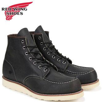 红红翼 MOC 向商务部脚趾 D 明智男士靴子皮靴制造在美国红翼 8890 木炭 [真正]
