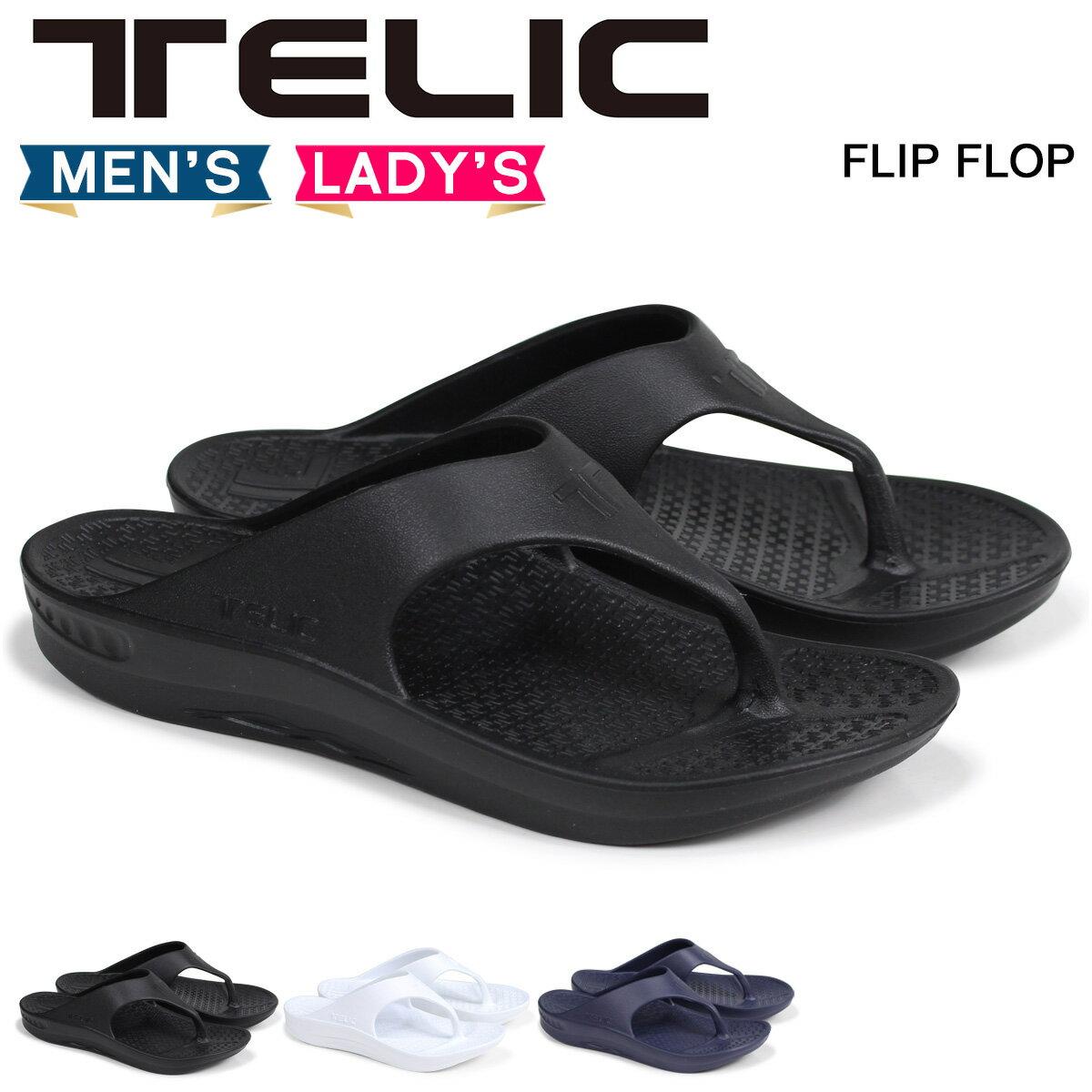 テリック TELIC サンダル コンフォートサンダル メンズ レディース フリップフロップ FLIP FLOP ブラック ホワイト ネイビー