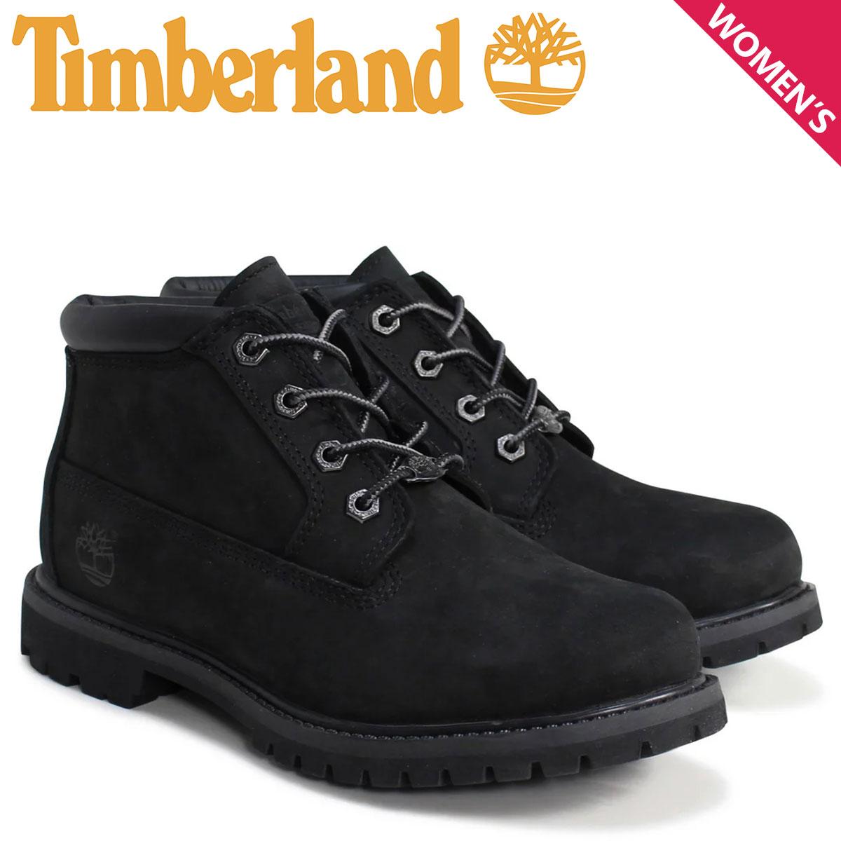 ティンバーランド チャッカ レディース Timberland ブーツ WOMEN'S NELLIE WATERPROOF CHUKKA BOOTS 23398 Wワイズ 防水 ブラック
