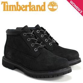 ティンバーランド Timberland チャッカ レディース ブーツ WOMEN'S NELLIE WATERPROOF CHUKKA BOOTS 23398 Wワイズ 防水 ブラック