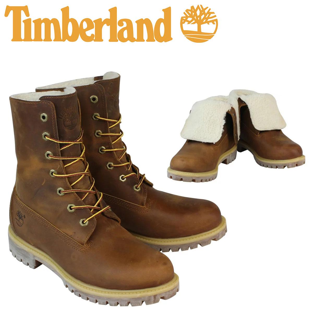 【最大2000円OFFクーポン】 ティンバーランド ブーツ メンズ Timberland HERITAGE FOLD-DOWN WARM FLEECE LINED BOOT ヘリテージ フォルドダウン フリース ライン A118Y ブラウン