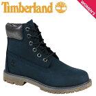 ティンバーランド レディース 6インチ Timberland ブーツ プレミアム JUNIOR 6-INCH PREMIUM WATERPROOF BOOTS A196M Wワイズ 防水 ネイビー