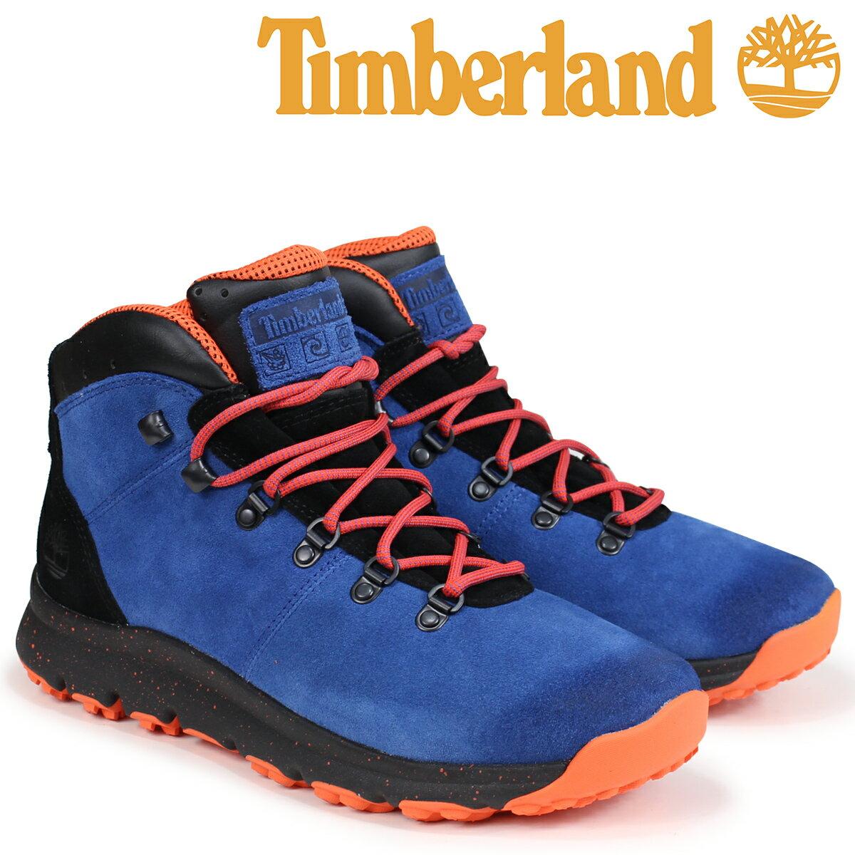 ティンバーランド ブーツ メンズ Timberland WORLD HIKER A1RFR Wワイズ ブルー [9/5 新入荷]