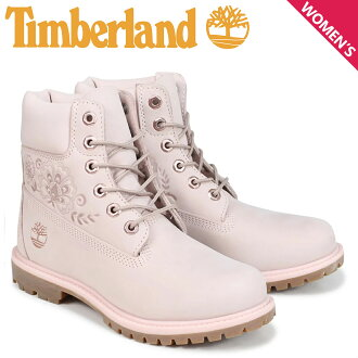 Timberland Timberland boots Lady's 6 inches 6-INCH PREMIUM BOOTS A1TKO W Wise pink
