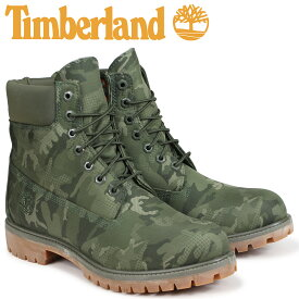 【最大2000円OFFクーポン】 ティンバーランド ブーツ メンズ 6インチ Timberland 6-INCH PREMIUM FABRIC BOOTS A1U9I Wワイズ ダークグリーン
