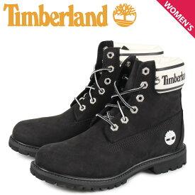 ティンバーランド Timberland ブーツ レディース 6インチ WOMENS 6INCH LOGO COLLAR WATERPROOF BOOTS ブラック 黒 A2314 [8/22 新入荷]