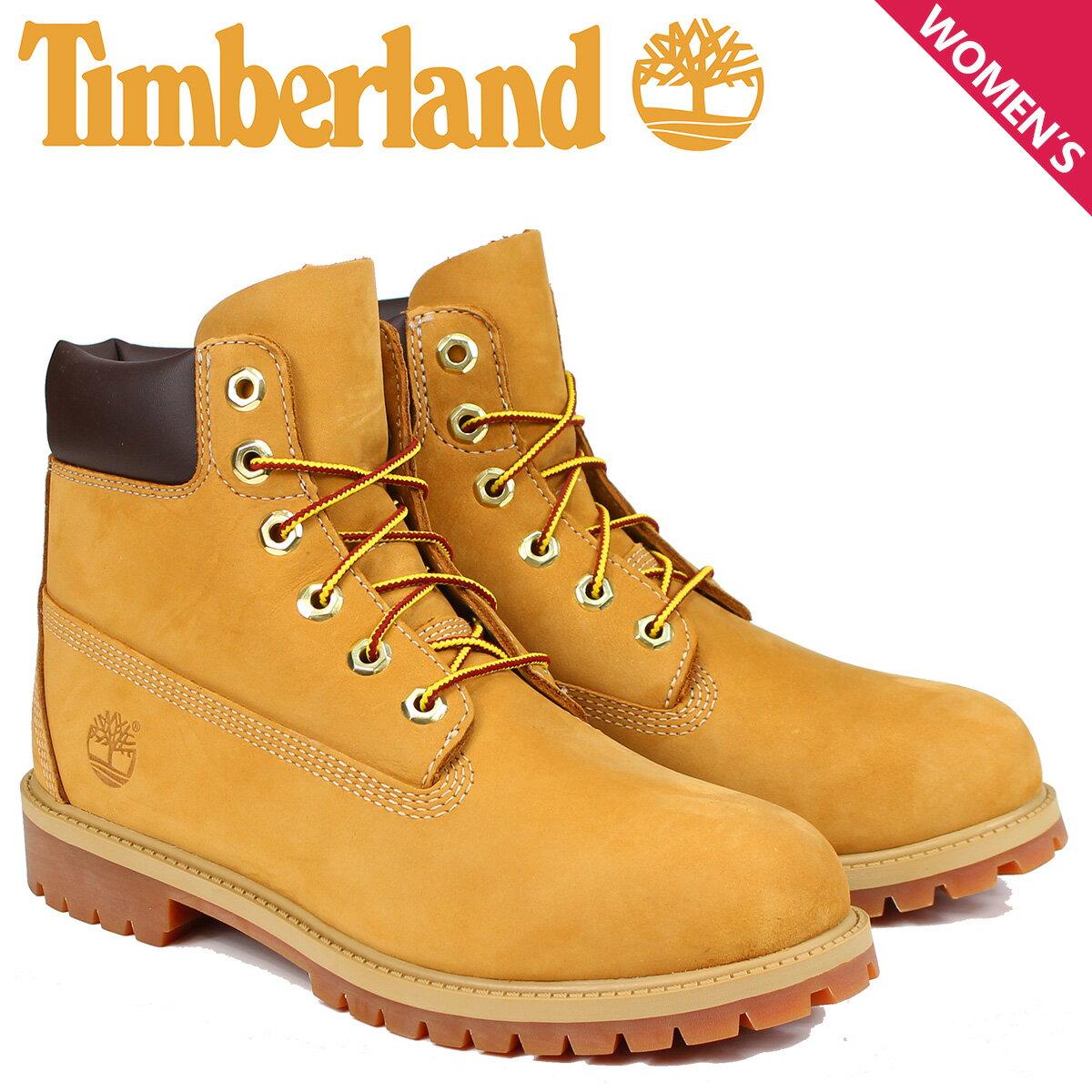 ティンバーランド レディース ブーツ 6インチ Timberland JUNIOR 6INCH PREMIUM WATERPROOF BOOTS 12909 [8/3 追加入荷]
