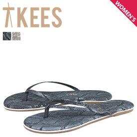 Tkees ティキーズ サンダル スタジオ エキゾチック ビーチサンダル レディース レザー STUDIO EXOTICS グレー ベージュ