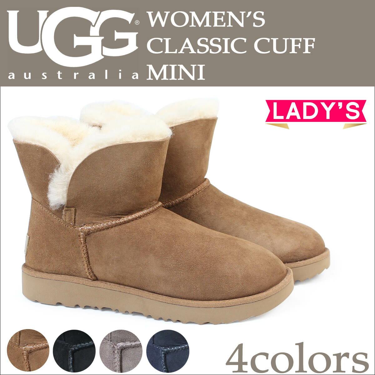 UGG アグ ムートンブーツ クラシック ミニ カフ WOMENS CLASSIC CUFF MINI 1016417 レディース 4カラー