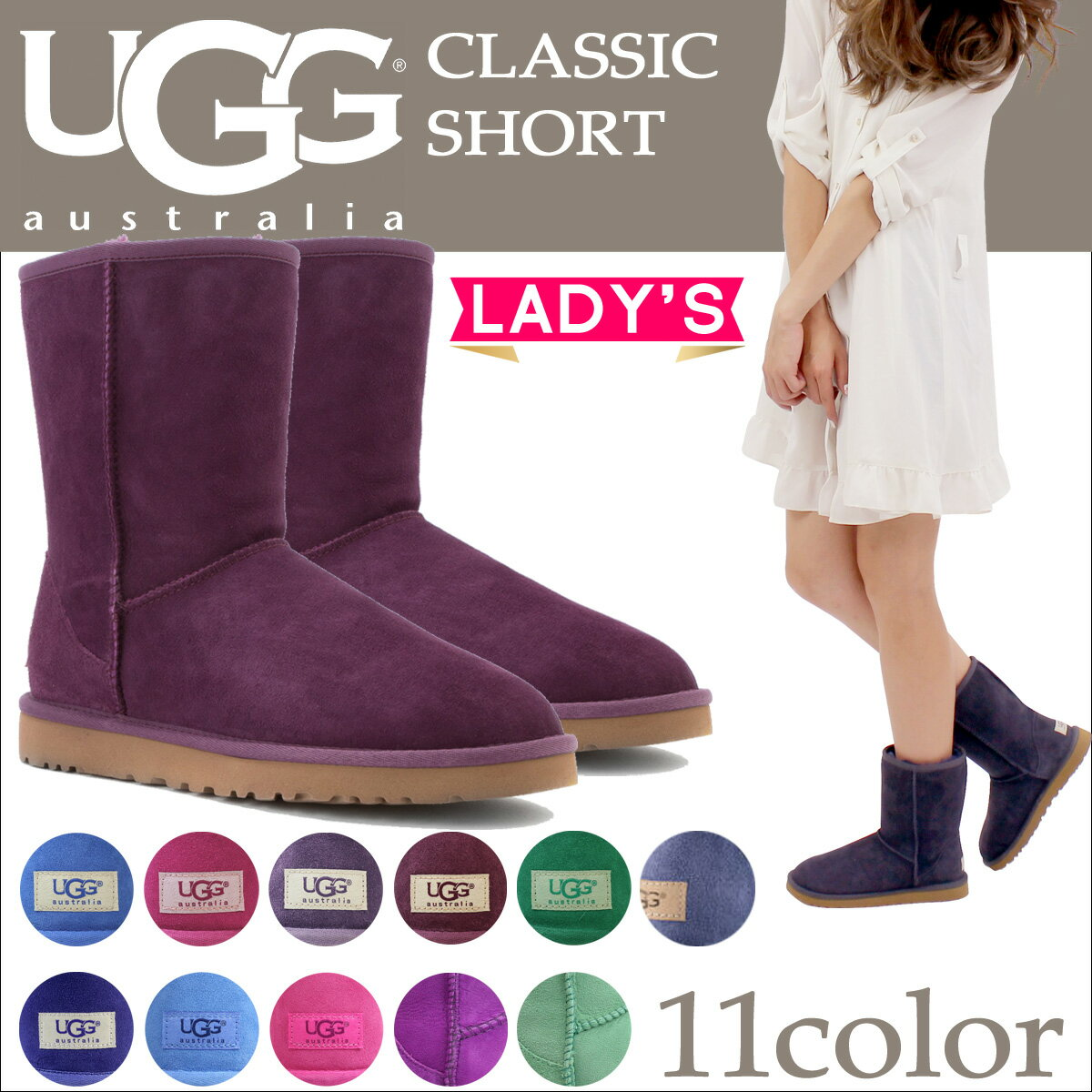 UGG アグ ムートンブーツ クラシック ショート 2 WOMENS CLASSIC SHORT II 5825 1016223 レディース