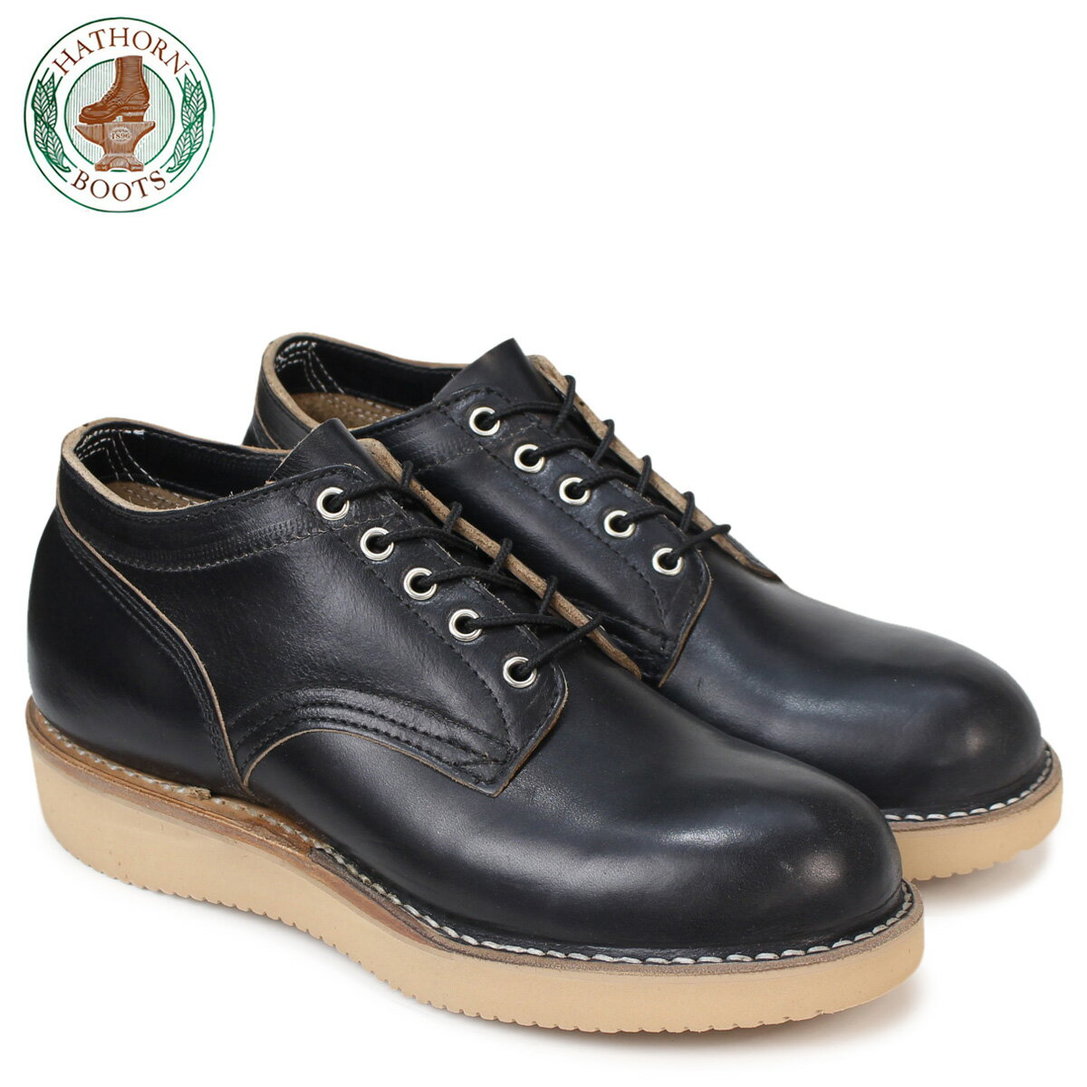 ハソーン HATHORN オックスフォード ホワイツ ブーツ レーニア RAINIER OXFORD Eワイズ 104NWC WHITE'S BOOTS ブラック メンズ
