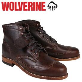 ウルヴァリン WOLVERINE 1000マイル ブーツ 1000MILE ADDISON WINGTIP BOOT Dワイズ W05342 ブラウン ウィングチップ ワークブーツ メンズ