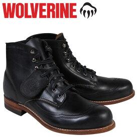 ウルヴァリン WOLVERINE 1000マイル ブーツ 1000MILE ADDISON WINGTIP BOOT Dワイズ W05344 ブラック ウィングチップ ワークブーツ メンズ