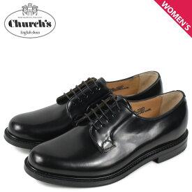 チャーチ Churchs シャノン プレーントゥ シューズ レディース SHANNON 2 WR ブラック 黒 DE0009
